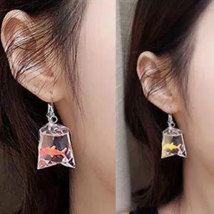 SO CUTE! Goldfish earrings